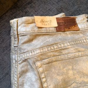 Denim and supply W28 L30 shiny coat jeans